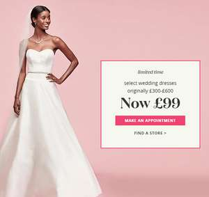 Wedding Dress sale from £99 @ David Bridal including plus sizes