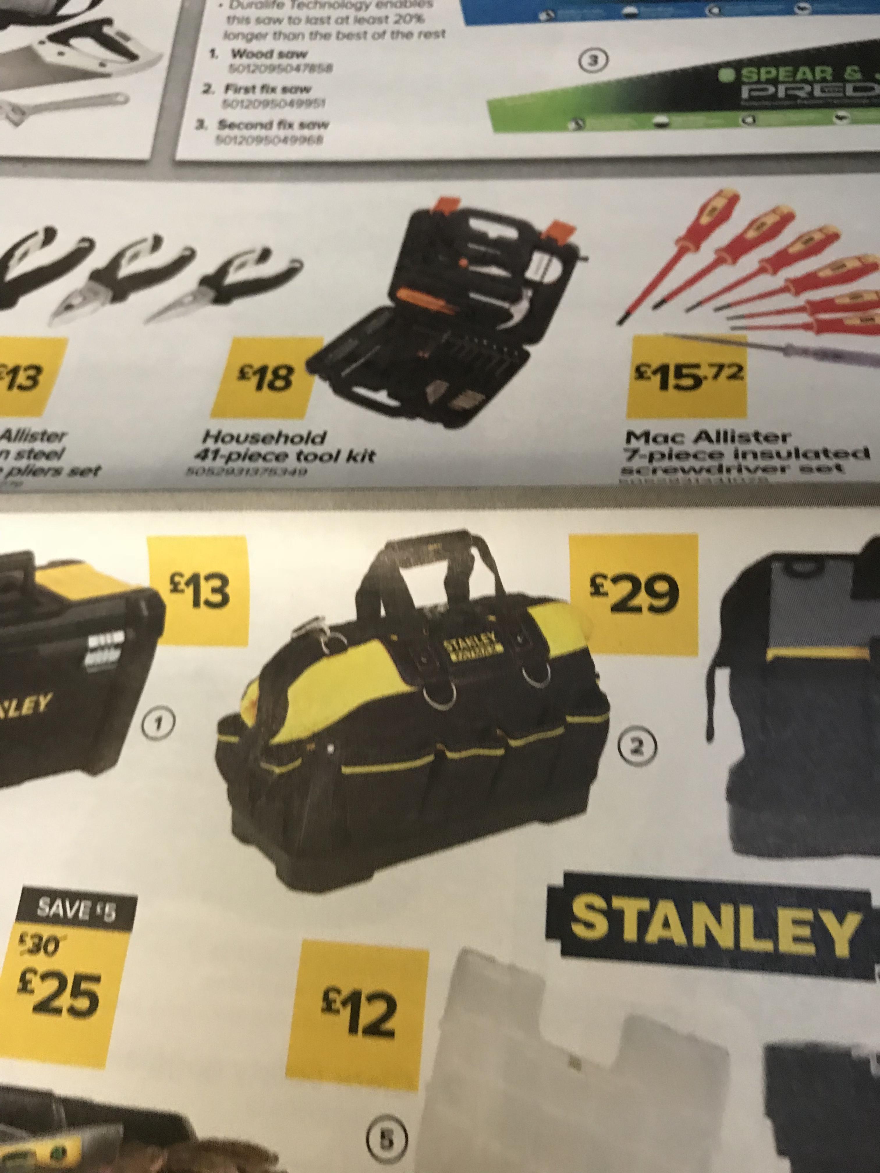 Stanley toolbag £14.50 @ B&Q Lisburn