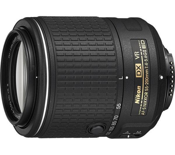 NIKON AF-S NIKKOR 55-200 mm f/4-5.6 ED VR II Zoom Lens - £115.97 @ Currys