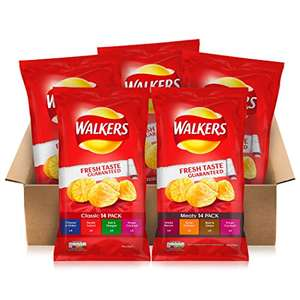 Walkers Classic & Meaty Variety Box Crisps, 25g (70 Bags) - £5.61 Amazon Prime - First Subscription