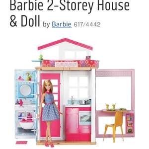 Barbie 2 storey house with doll down to £26.99 in Argos