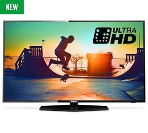 Philips 50PUS6162 50 Inch 4K UHD HDR Smart TV with FVPlayUsing £449.10 code at argos