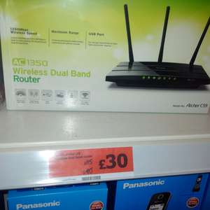 tp link ac1350 wireless router dual band £30 at sainsburys instore