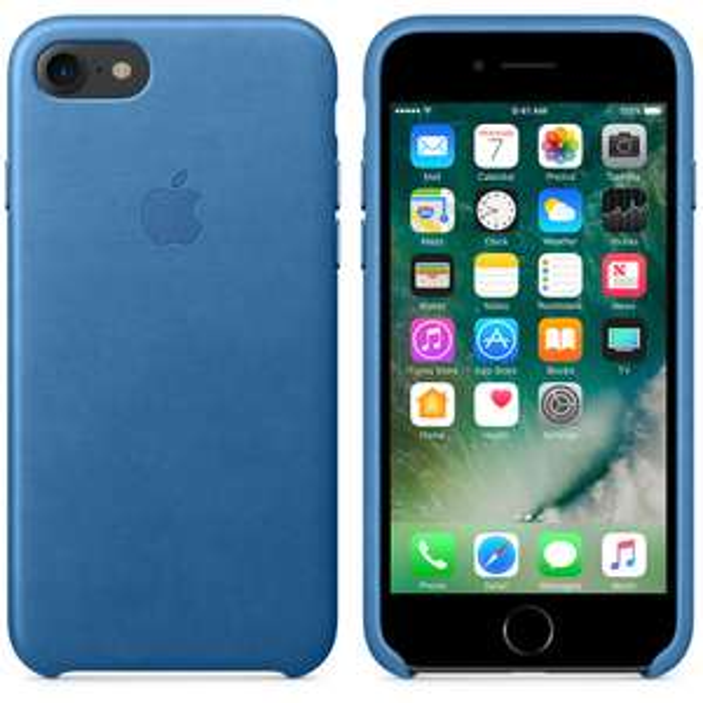 Apple iPhone 7/7 Plus (Fits iPhone 8/8Plus) Leather Case Sea Blue - £22.50/£24.50 @ O2