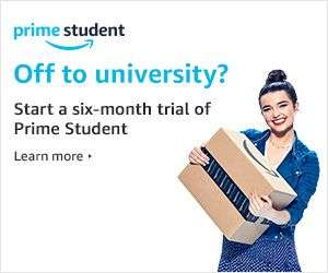 6 Month Amazon Prime Student Trial, only £39 for a year of Prime afterwards (50% off)