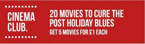 5 Movies at £1 each at Rakuten TV - Choice of 20 Available (Check emails)