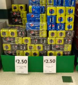 Pepsi cans (10 pack) £2.50 @ Morrison's instore