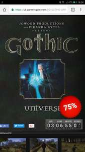Gothic Universe Edition (Trilogy) - 75% Off (Steam Keys) @ GamersGate - £4.50