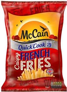 McCain Quick Cook French Fries (750g) one bag is £2.50 but 3 bags are £5.00 @ Iceland