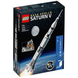 LEGO NASA Apollo Saturn V 21309 in stock now at John Lewis £109.99