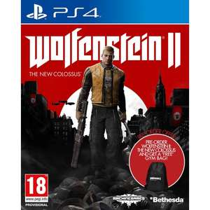 Wolfenstein II: The New Colossus (PS4/XB1) + Free Gym Bag (£34.87 using code) @ The Game Collection