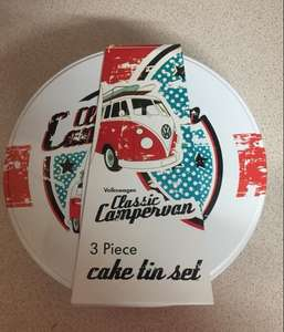 Volkswagen official licensed metal cake tins  £1.99 @ home bargains