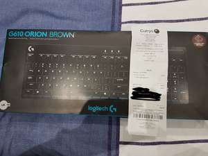 Logitech G610 Orion Brown Backlit Mechanical Keyboard £49.97 on clearance @ Curry's PC World