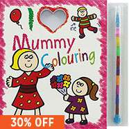 I Love Mummy Colouring Pad / I Love Daddy Colouring Pad inc. crayons only £1.40 with Free C&C @ The Works (Plus an extra 30% off all other Price Drops)