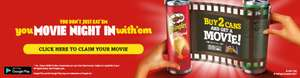 Free google play Movies 2017 with 2 cans of Pringles £1.25 each @ Asda