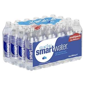 Amazon Pantry - Glacéau Smartwater 24 x 600 ml - £4.50 with Amazon Voucher + £2.99 delivery