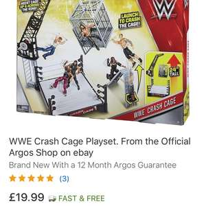 WWE Wrestling Crash Cage Playset - Free Delivery £19.99 Argos / ebay