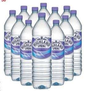 Highland spring still water 12 x 1.5 Litre £3.94 @ Costco warehouse