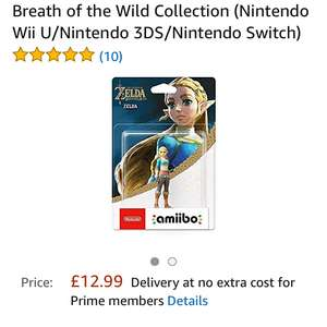Amiibo Zelda at Amazon for £12.99 (Prime or £14.98 non-Prime)