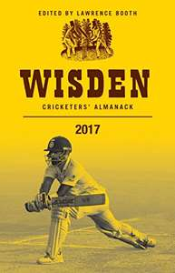 Wisden 2017 - reduced from £45 to £9.99 (Prime) / £12.98 (non Prime) at Amazon - Hardback version