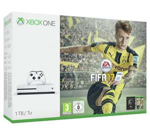 Xbox One S 1TB Console with FIFA 17 Bundle + GTA V + Ark - 229.99 or £206.99 (with 10% misprice code) @ Argos