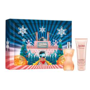 Jean Paul Gaultier  Classique Eau De Toilette 50ml EDT / 75ml Body Lotion Gift Set + Free Sample + Free Delivery now £29.65 with code @ Fragrance Direct (more in OP inc YSL Rive Gauche EDT Spray 100ml £34.34 Del)