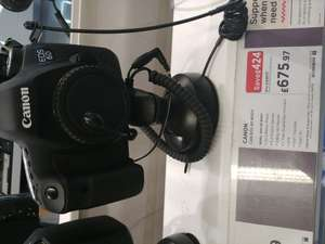 Canon 6d instore at Currys Princess Street Edinburgh for £675
