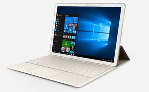 """HUAWEI MateBook 12"""" 2 in 1 Windows 10 Laptop/Tablet With Backlit Keyboard - White & Champagne Gold (4GB, 128GB SSD, 2160 x 1440 IPS) £399.97 (£50 Cashback) @ Currys Ebay"""