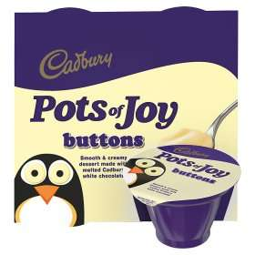 Cadbury Pots of Joy Dairy Milk Desserts (4 x 70g) ONLY £1.00 @ Asda
