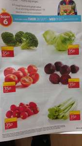 Aldi Super Six Fruit & Veg 35p @ Aldi (Broccoli,Tomatoes,Beetroot,Iceberg Lettuce,Radish & Cellery.