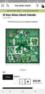 Bodyshop Deluxe Beauty advent Calendar £19.50 off - now £45.50 at The Body Shop