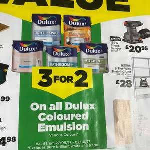 Homebase 3 for 2 on Dulux Paint