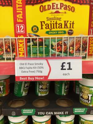 Old El Paso fajita making kit smokey BBQ £1 @ Heron