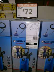 Nilfisk 110.7-5 Pressure washer plus some attachments  £72 instore @ B&Q Slough