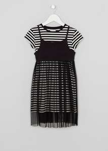 matalan girls 3-13 year olds mesh dress and tshirt set £6-£7 online all sizes instock (C&C)