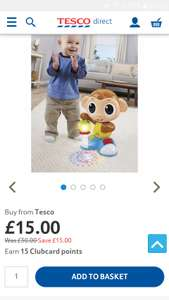 Little tikes light n go movin monkey at Tesco Direct for £15