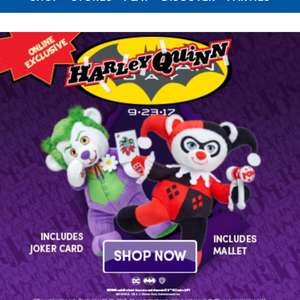 harley quinn joker build a bear online exclusives 27. Black Bedroom Furniture Sets. Home Design Ideas