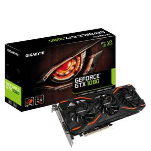 Gigabyte GeForce GTX 1080 Windforce OC Graphics Card at LaptopsDirect for £459.97 (poss £444.97 w/ Which trial)