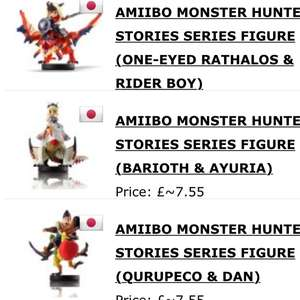 Monster hunter amiibo at Play-Asia for £7.55 each (£36.15 for all 3 delivered)