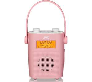 JVC RA-D11-P Portable DAB/FM Bathroom Clock Radio - Pink £12.97 @ Currys (C&C)