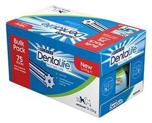 DENTALIFE Medium Dog Dental Chew, (75 x 23g) RRP £17.50 now £12.50 @ Amazon Prime / £17.25 non-Prime