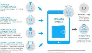 Receive £4 into your account every month for FREE! With a Barclays Reward Account