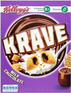 Kellogg's milk chocolate krave (375g) was £2.79 now £1.39 @ Waitrose