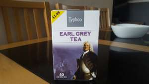 Ty-phoo Earl Grey Tea Bags 40s. 49p @ Poundstretcher.