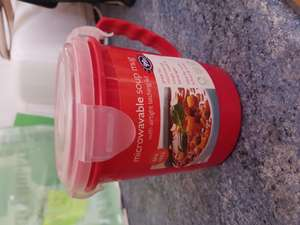 Microwaveable soup mug with airtight lid - 99p @ B&M