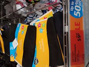 School clothes for 3-11 years old children - 59p instore @ ALDI