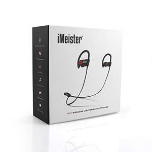 iMeister Original Bluetooth Headphones, Wireless Sports Earphones £37.95 @ Sold by iMeister Limited and Fulfilled by Amazon