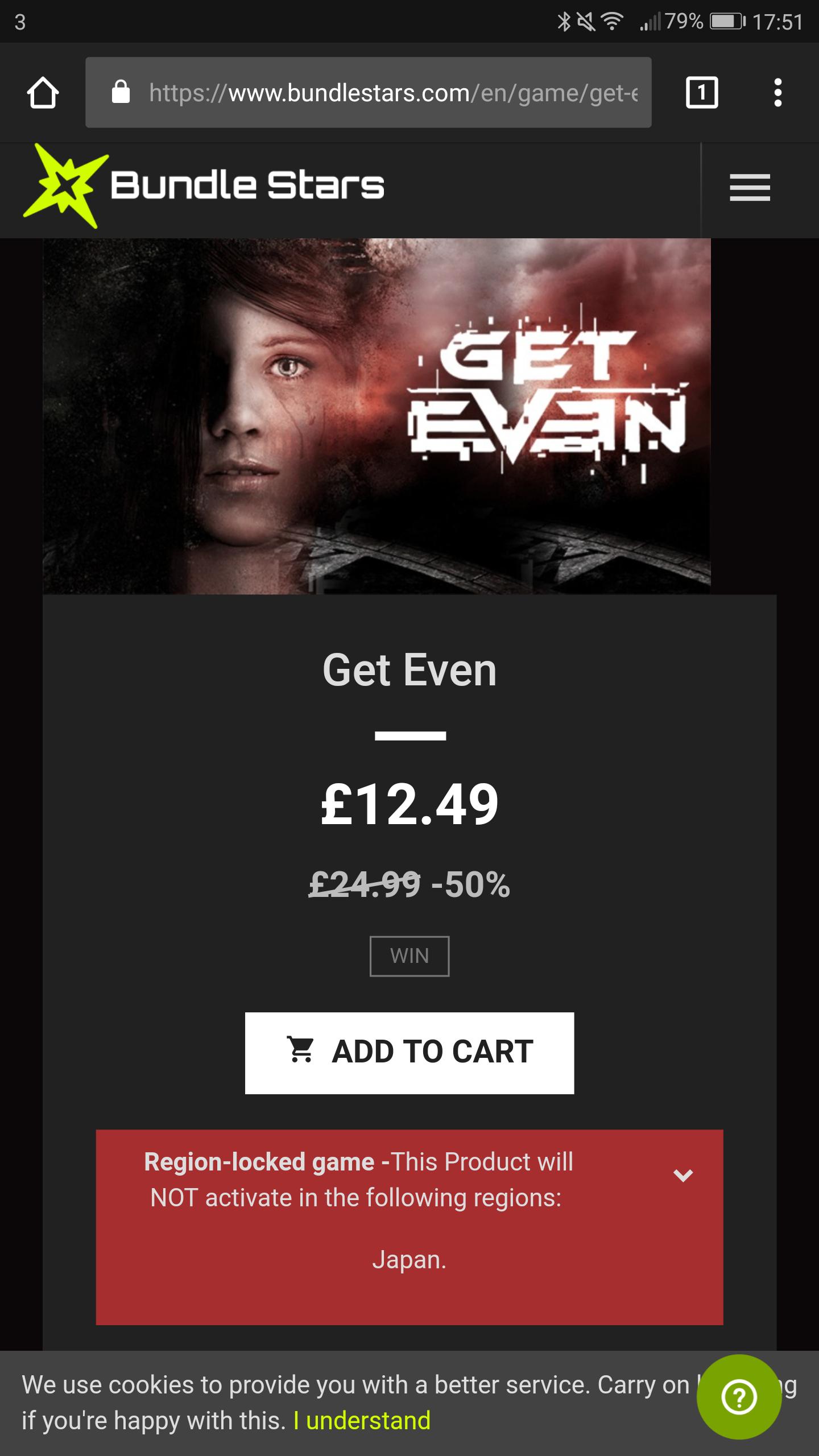Get Even - 50% off - Bundlestars - Steam Key - £12.49