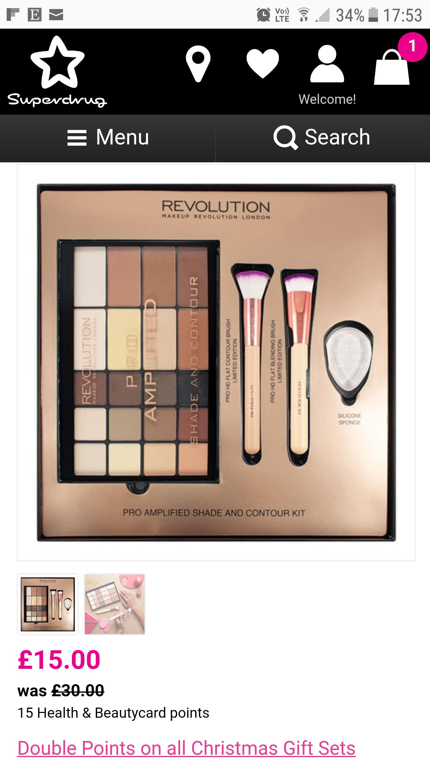 Make up Revolution sets half price £15 @ Superdrug
