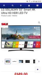 "LG 55"" Smart 4k Tv Currys sale £689"